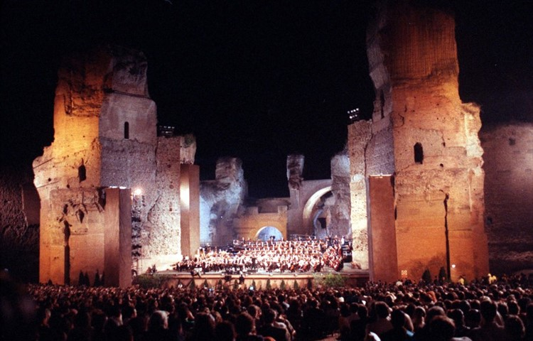 The Opera house of Rome at the Caracalla's Baths